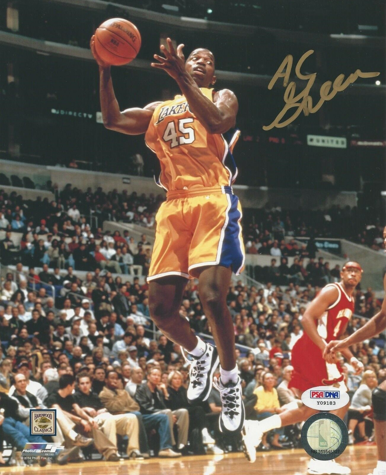 Ac Green LA Lakers Signed 8x10 Photo PSA/DNA # Y09183