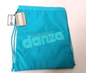 DIMENSIONE-DANZA-Sacca-zaino-coulisse-cordura-celeste-con-glitter-ragazza-TA87
