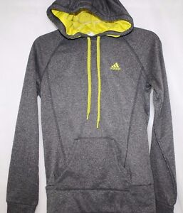 NEW Womens ADIDAS Ultimate F46681 Dark Shale Yellow Pull Over Hoodie ... 2fbb938a90e