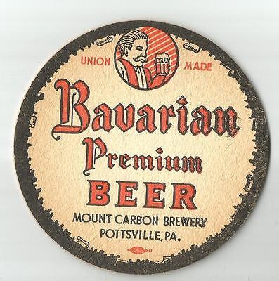 VINTAGE BAVARIAN PREMIUM BEER COASTERS   Mount Carbon PA  Set of 4