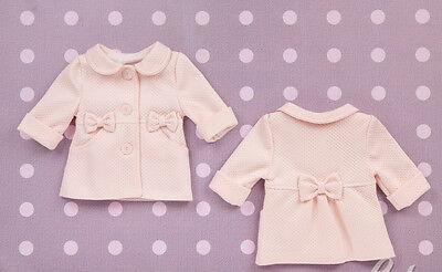 Smart Ragazze Baby Trapuntato Battesimo Battesimo Cappotto Giacca Bianco Rosa 3 6 12m 2 3y-