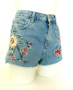 Koucla femme bleu taille haute Taille Denim Shorts Hot Pants-taille