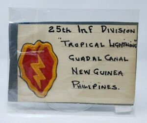 WWII-United-States-US-Army-25th-Infantry-Tropic-Lightning-Division-Patch