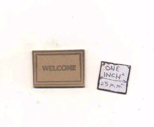 Welcome Mat dollhouse miniature MUL4869 1//12 scale Multi Minis USA