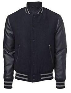 Zwart Xl American Mouwen Met College Jacket Lederen Zwart Windhound qww6t4O