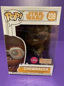 Flocked Exclusive A Star Wars Story Funko POP Chewbacca With Goggles