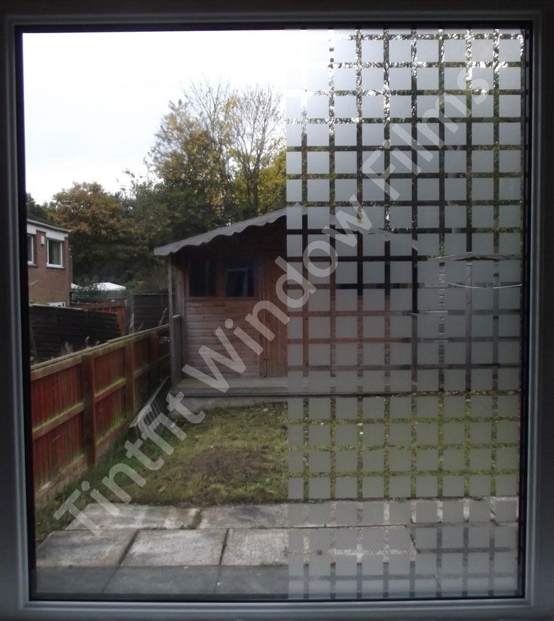 FROSTED SQUARES 75cm x 7m - DECORATIVE PRO WINDOW TINT TINTING FILM VINYL