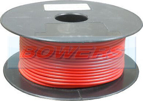 50M METRE ROLL//REEL RED SINGLE CORE CABLE//WIRE 17.95AMP 28 STRAND 2mm 2.00mm²