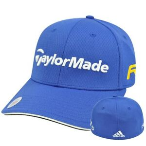 11185a832f06d Adidas Ashworth Golf Hat Cap Penta Taylor Made R11 Blue Stretch Flex ...
