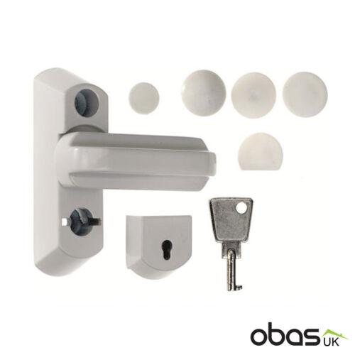 Era ® 816 Sash Jammer UPVC Porte Fenêtre Verrouillage Blanc Bride Home Security Loquet