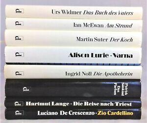 💸  8x Bücherpaket Sammlung Diogenes nur gebundene Romane - McEwan Suter Süskind