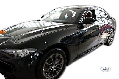 J/&J AUTOMOTIVE Tapis de Sol Noir Velours Compatible avec Alfa Romeo Giulia 952 2016-pr/és