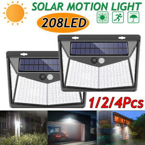 208-LED-Waterproof-Lamp-Solar-Power-Motion-Sensor-Wall-Wall-Mount-Light-Outdoor