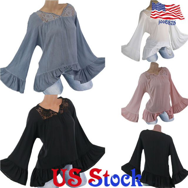 Girls Top Kids Floral Lace T Shirt Long Sleeved Children Fashion Casual Party