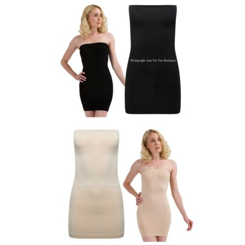 Shapewear Strapless Firm Control Dress Slip Body Shaper Waist Cincher NO VPL