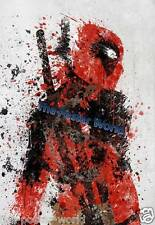 Deadpool Movie watercolour Animals Wildlife Picture Poster Home Art Print New