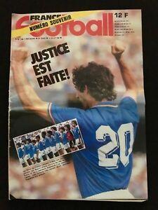 MAGAZINE-FRANCE-FOOTBALL-N-1892-MONDIAL-1982-MUNDIAL-82-ITALIE-FRANCE-KOWEIT-ETC