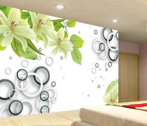 3D Circle Adorn 559 Wallpaper Murals Wall Print Wallpaper Mural AJ WALL AU Kyra