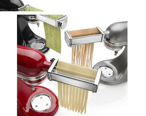 KitchenAid Kpra Pasta Roller Cutter Maker 3-piece Stand Mixer ... on
