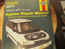 Haynes Mazda MPV Van 1989-1994 Repair Manual # 61020 Shop Service Garage CHILTON
