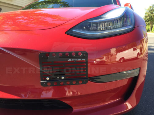 EOS-Plate For 16-Up Tesla Model 3 Front Bumper Tow Hook License Plate Bracket