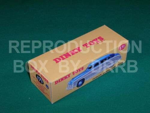 Caja de reproducción por drrb Dinky #171 Hudson Commodore Sedán Rojo//Turquesa