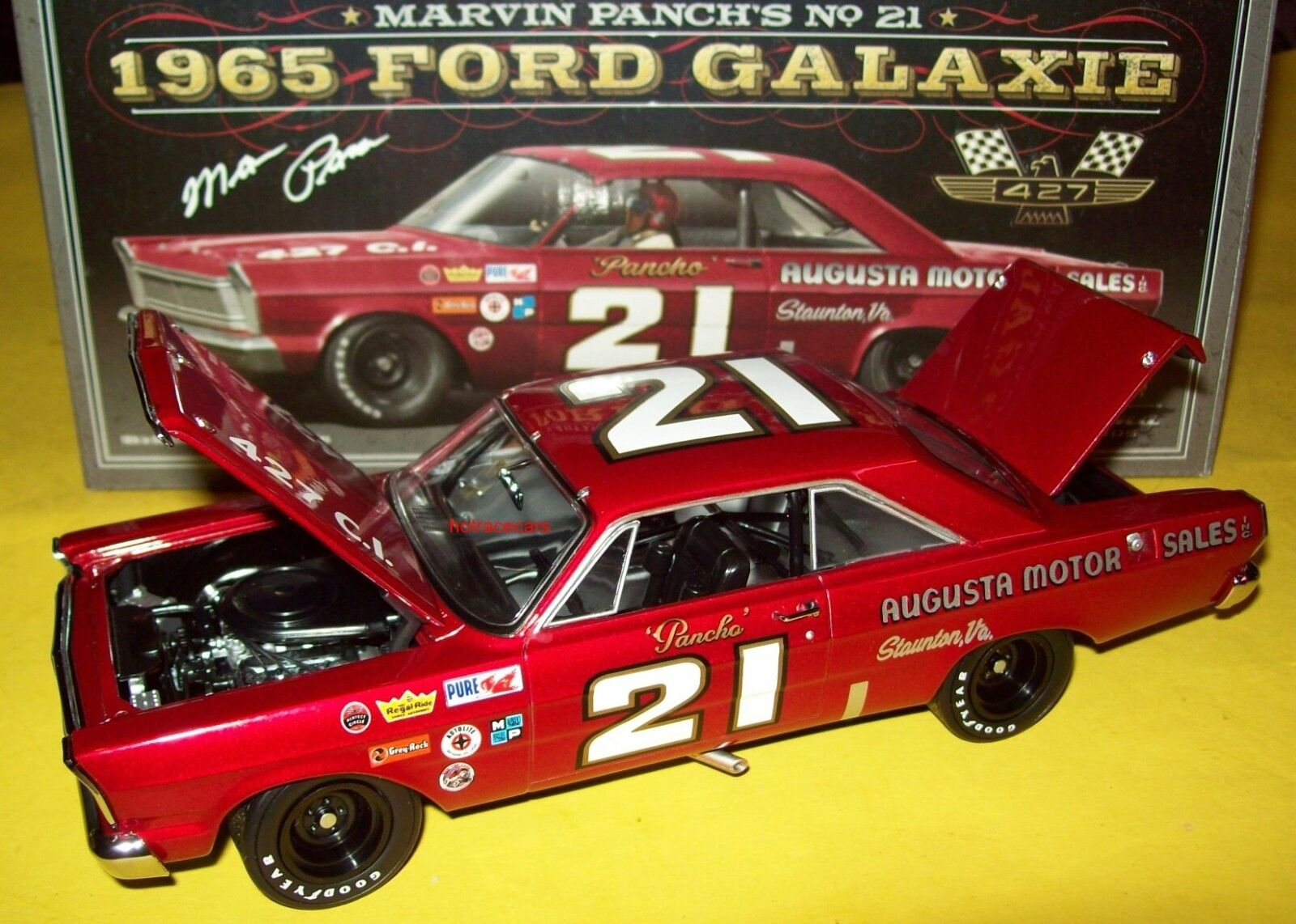 Marvin Panch 1965 Ford Galaxie Augusta Motor Sales 1 24 NASCAR Legends New