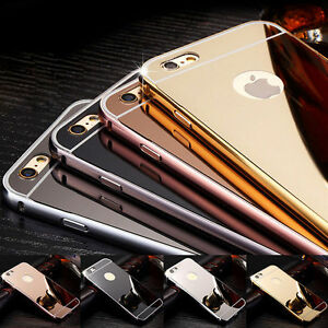 Luxury Aluminum Ultra-thin Metal Bumper Mirror Back Case Cover for ... adc554fc40