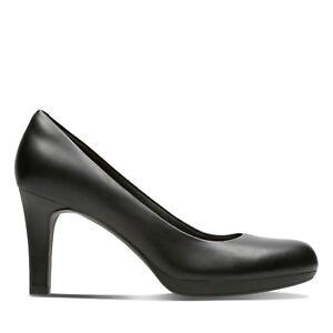 D Zapato Adriel De Mujer Ajuste Ancho Cuero Clarks Negro Violeta qfFYcWW4
