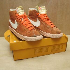 discreción foro Aislante  Nike Blazer Mid Hi Top Suede Vintage Bright Orange Women's UK 7.5 EUR 42 |  eBay
