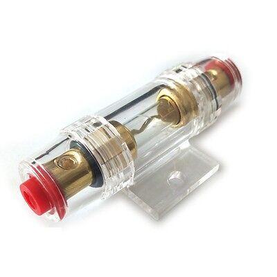 2Pcs 100A Gold Plated Fuse Holder Block For Car Subwoofer Audio Amplifier bq