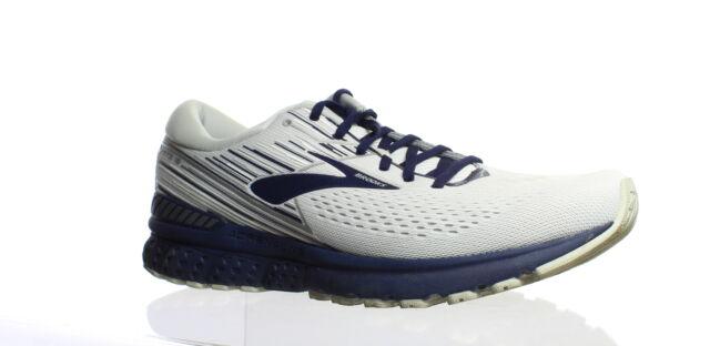 Brooks Mens Adrenaline Gts 19 White/Grey/Navy Running Shoes Size 13 (1399377)