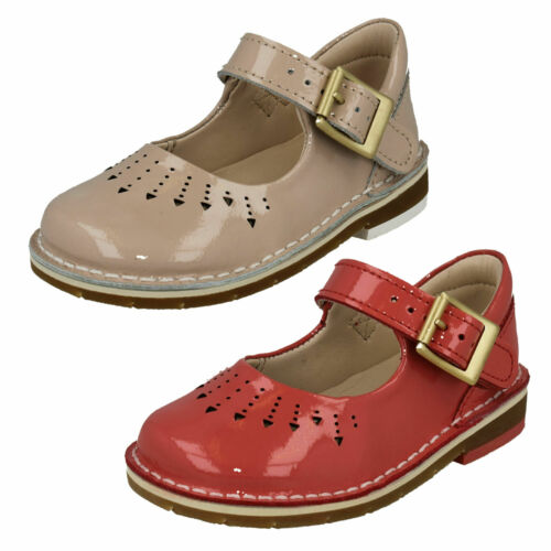 GIRLS CLARKS YARN JUMP BUCKLE SMART MARY JANE INFANT CASUAL TODDLER SHOES SIZE