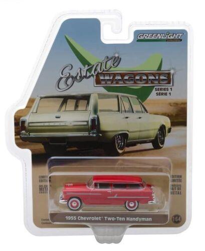 1955 Chevrolet Handyman Nomad Heckfenster öffnet* Greenlight Estate Wagon 1:64