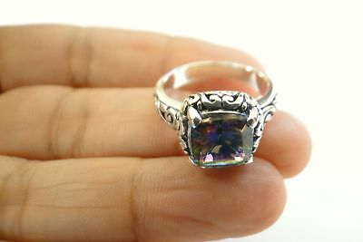solid Sterling Silver .925 Ring  size 8.5 5CT Chalcedony