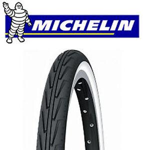 Pneu-Velo-MICHELIN-DIABOLO-confort-city-Noir-Blanc-tire-bike-Reifen-Fahrrad-NEUF
