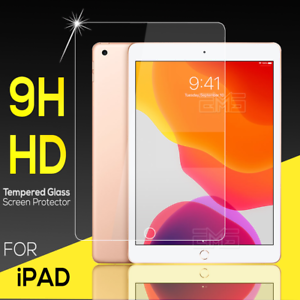 For Apple iPad 5th 6th 7th 8th 9th Gen  Air 3 4 Tempered Glass Screen Protector