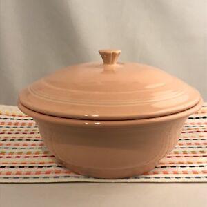 Fiestaware-Apricot-Covered-Casserole-Fiesta-Retired-Style-Peach-Pink-Bakeware