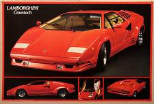(PRL) 1991 LAMBORGHINI COUNTACH AUTO SUPER CAR EPOCA VINTAGE PRINT ART POSTER