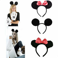 Minnie Mouse Ears Headband Hen Nights Womens Girls Mickey Party Fancy Dress UP