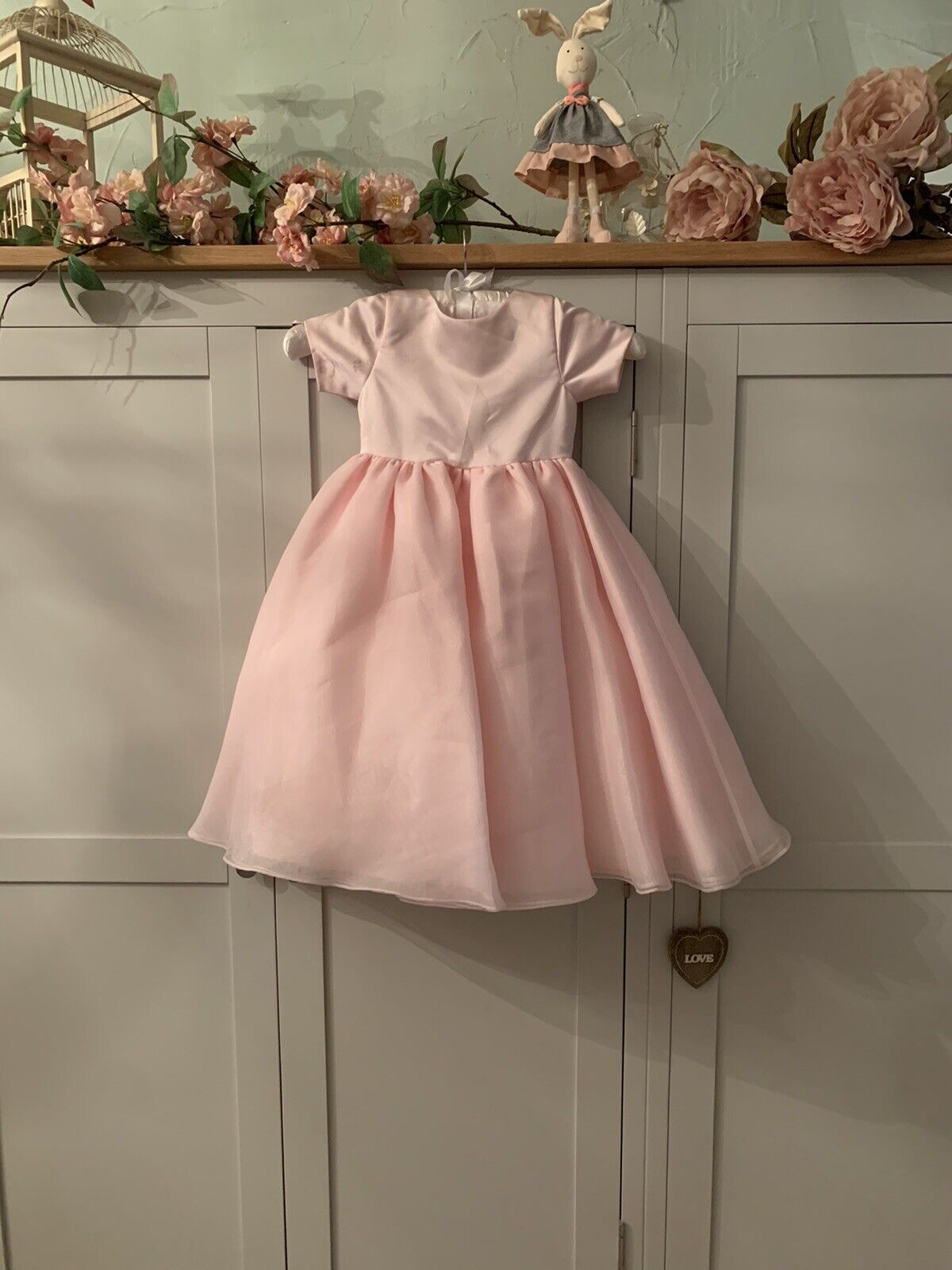 Emily Fox Pink Pearl Buttoned Age 3 Bridesmaid Flower Girl Party Evening Dress