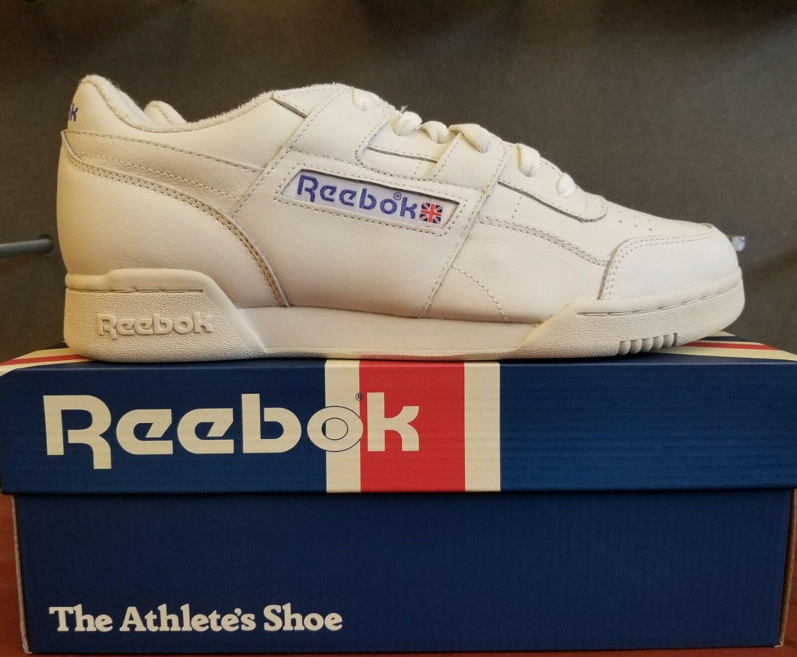 Nuevo en la caja REEBOK WORKOUT 1987 TV DV6435 Tiza PLUS Paperblancoo Zapatos para hombres