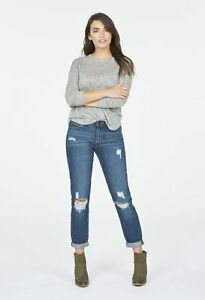 Just-Fab-Distressed-Slim-Boyfriend-Blue-Size-29-LF076-TT-03