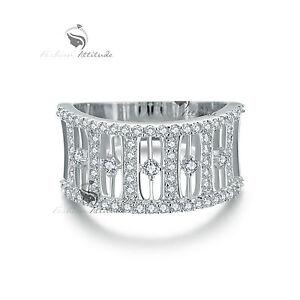 18K-White-Gold-GF-women-039-s-wedding-band-dress-Simulated-Diamond-ring