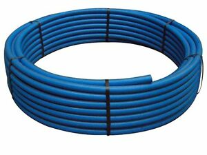 50mm x 50mtr coils blue mdpe water mains pipe ebay for Water main pipe material