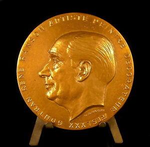 Medaglia-a-Artista-Pittore-amp-Decoratore-Rene-Guntram-Ranson-1891-1977-Medal