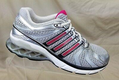 Gárgaras sofá atención  Adidas Boost Womens Running Shoes AdiWear Silver Pink Sneakers Size 7 | eBay