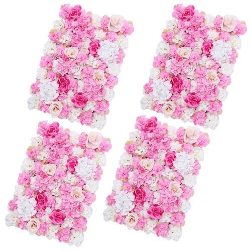4pcs Soie Fleur panneaux muraux mariage route principale mariage fond decor