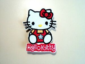 New cute hello kitty embroidered cloth patch applique badge iron sew