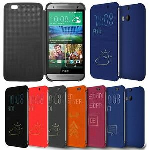 check out 0180e df688 Details about New Flip Dot View Smart Case Cover For HTC ONE M8 M9 E8 E9  EYE Desire ME 820